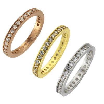 ZEEme Silver Ring 925/- Sterling Silber Zirkonia weiß (Farbe: weiß, Größe: 054 (17,2))