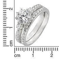 ZEEme Silver Ring 925/- Sterling Silber zweitlg. Zirkonia weiß (Größe: 058 (18,5)) - Produktdetailbild 1