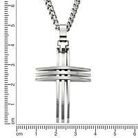 ZEEme Stainless Steel Anhänger mit Kette Edelstahl Kreuz - Produktdetailbild 2