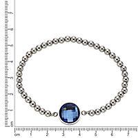 ZEEme Stainless Steel Armband Edelstahl Stretcharmband Glas blau - Produktdetailbild 1