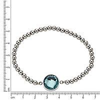 ZEEme Stainless Steel Armband Edelstahl Stretcharmband Glas mint - Produktdetailbild 1
