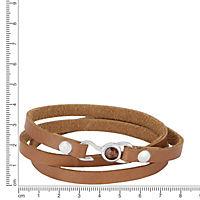 ZEEme Stainless Steel Armband Leder bronze mit Stahlverschluß - Produktdetailbild 1