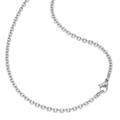 ZEEme Stainless Steel Collier Ankerkette Edelstahl 3mm breit (Ausführung: 50cm)
