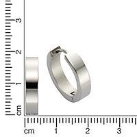 ZEEme Stainless Steel Creole Edelstahl hochglanzpoliert 18mm Durchmesser - Produktdetailbild 1