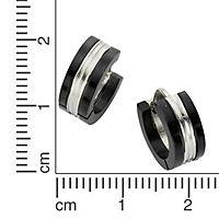 ZEEme Stainless Steel Creole Edelstahl zweifarbig 13mm Durchmesser - Produktdetailbild 1