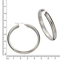 ZEEme Stainless Steel Creolen Edelstahl gemustert 45mm Durchmesser - Produktdetailbild 1