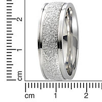 ZEEme Stainless Steel Ring Edelstahl gesandet glanz (Größe: 054 (17,2)) - Produktdetailbild 1