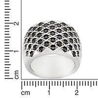 ZEEme Stainless Steel Ring Edelstahl Kristall schwarz (Größe: 054 (17,2)) - Produktdetailbild 1