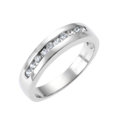 ZEEme Stainless Steel Ring Edelstahl Zirkonia weiß (Größe: 058 (18,5))