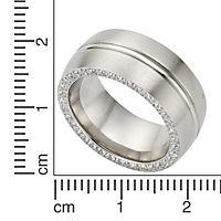 ZEEme Stainless Steel Ring Edelstahl Zirkonia weiß (Größe: 062 (19,7)) - Produktdetailbild 1