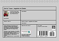 Zeit für Trauer - begleitet mit Zitaten (Tischkalender 2019 DIN A5 quer) - Produktdetailbild 13