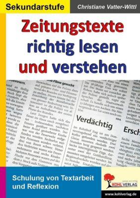 Zeitungstexte richtig lesen und verstehen, Christiane Vatter-Wittl