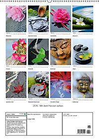 ZEN - Mit dem Herzen sehen (Wandkalender 2019 DIN A2 hoch) - Produktdetailbild 13