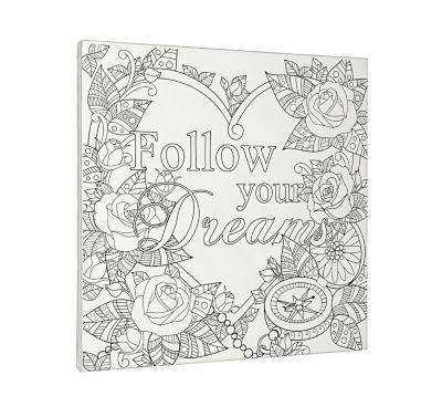 Zencolor Motivkeilrahmen Follow your Dreams
