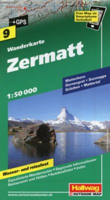 Zermatt Wanderkarte Nr. 9, 1:50 000