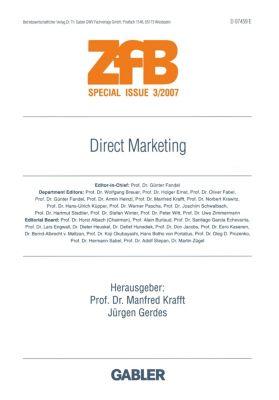 ZfB (Zeitschrift für Betriebswirtschaft) Special Issue: Bd.3/2007 Direct Marketing