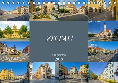 Zittau Impressionen (Tischkalender 2019 DIN A5 quer), Dirk Meutzner