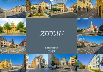 Zittau Impressionen (Wandkalender 2019 DIN A2 quer), Dirk Meutzner