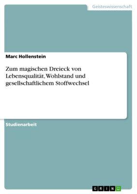 Zum magischen Dreieck von Lebensqualität, Wohlstand und gesellschaftlichem Stoffwechsel, Marc Hollenstein