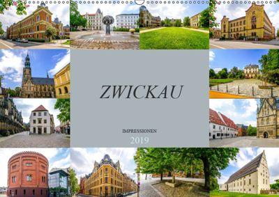 Zwickau Impressionen (Wandkalender 2019 DIN A2 quer), Dirk Meutzner